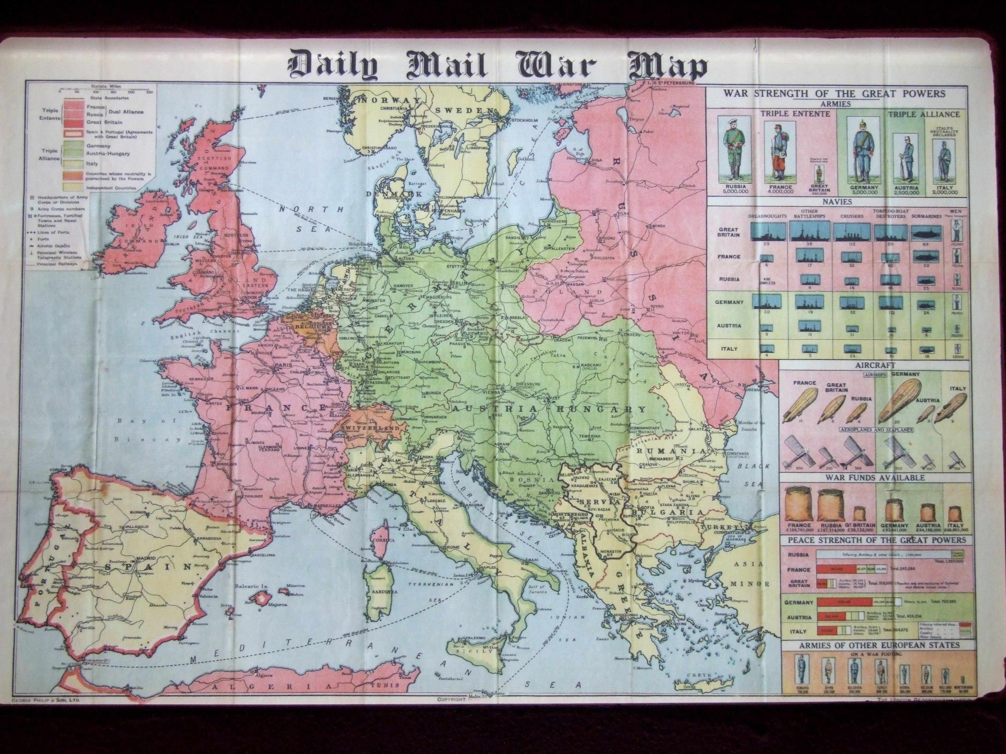 Daily Mail War Map, In Flanders' Fields Museum, Ypes