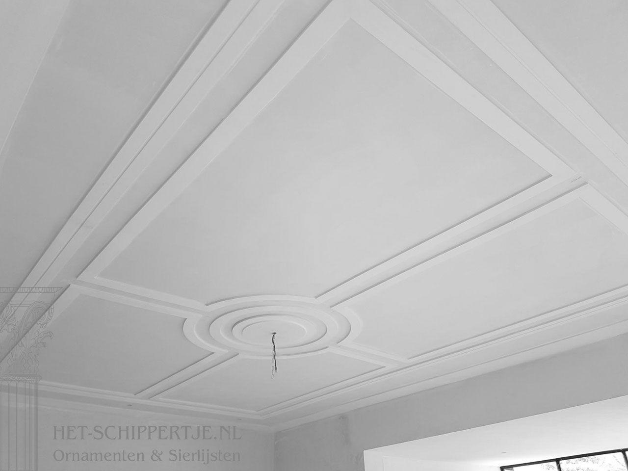 Strak Sierlijsten Plafond Coffered Ceiling Diy Modern Ceiling Modern Ceiling Tile