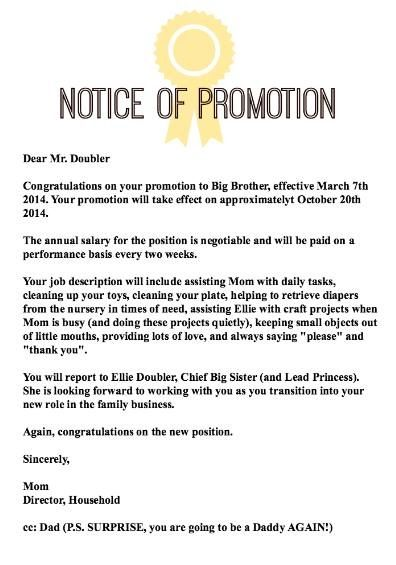 Letter Of Promotion To Big Brother