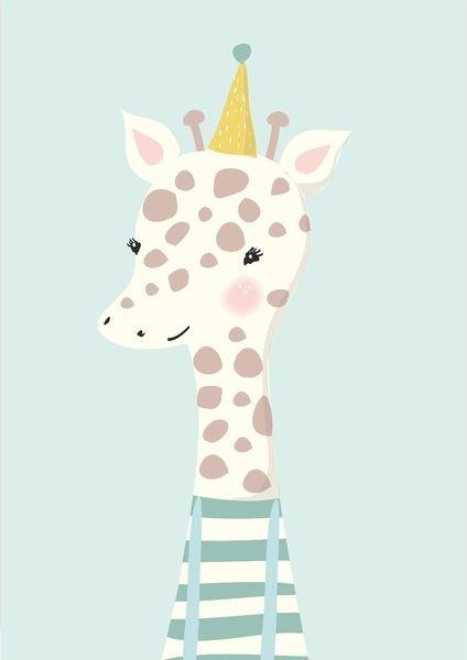 Kinderbilder fürs kinderzimmer giraffe  Mimirella   Poster Giraffe (A4)   kinderkamer   Pinterest ...