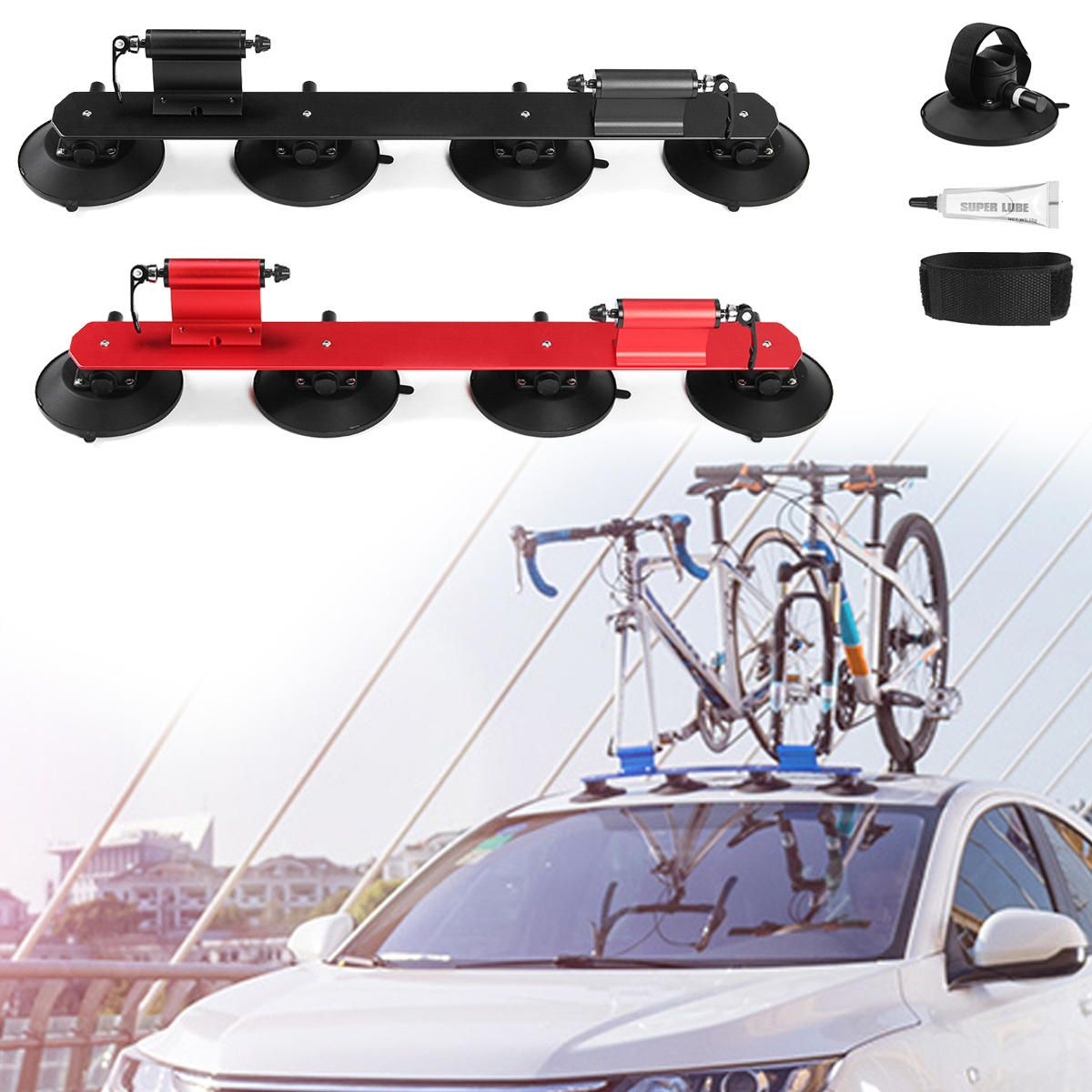 Us 178 28 9 Rockbros Bike Bicycle Carrier Suction Rooftop Rack