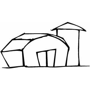 Barn And Silo Coloring Pages Barn Printable Coloring Pages
