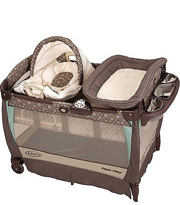 Pack N Plays Are Great Especially For 2 Story Homes Graco Play Playard With Cuddle Cove Rocking Seat