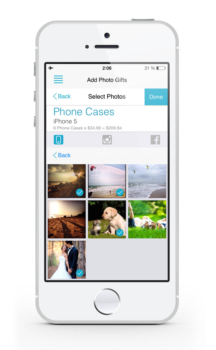 Custom photo cases. Global Print app can help you to get