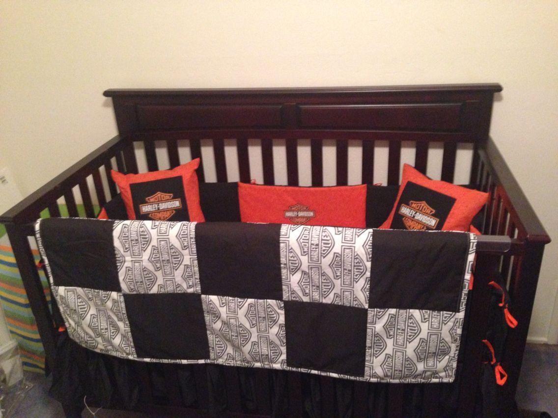 Custom Made Harley Davidson Crib Bedding For My Son I Love It