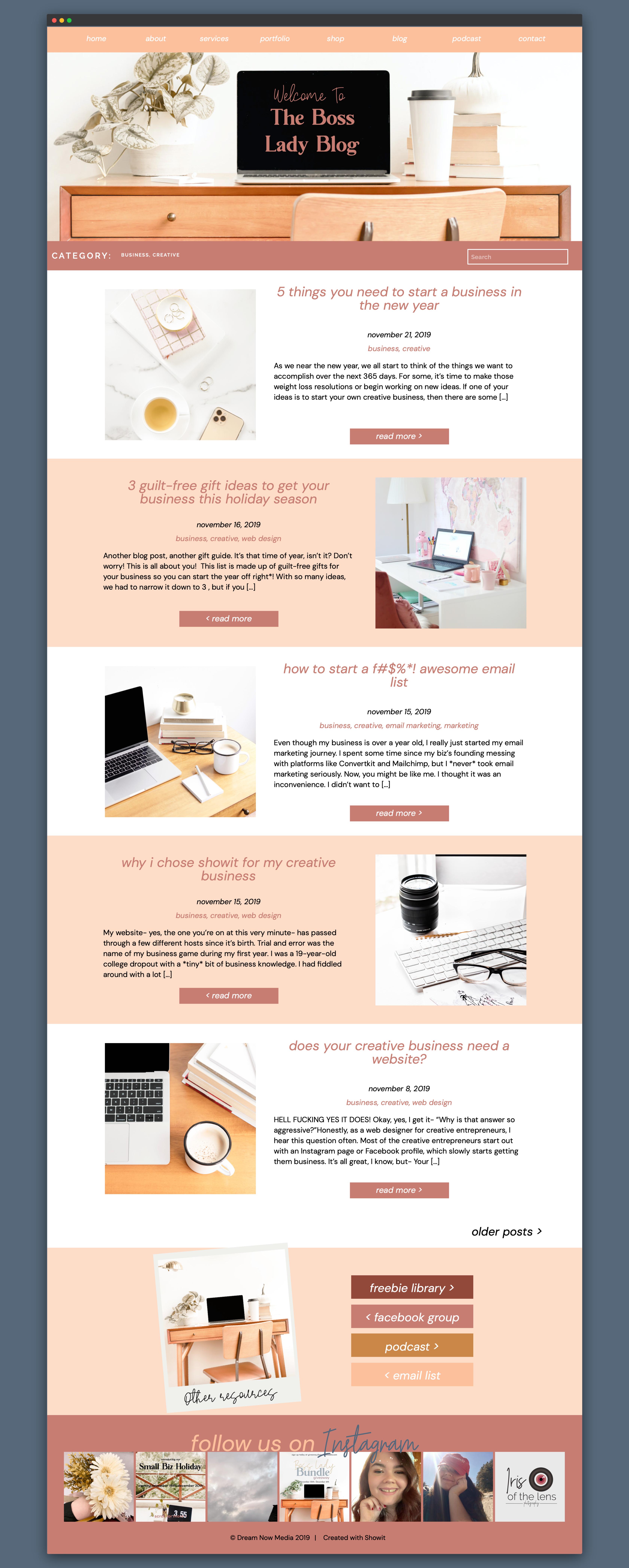 Blush And Navy Feminine Wordpress Blog Design For Lifestyle Blog By Girlboss Designer Girlboss Wordpress Blog Design Blog Website Design Creative Web Design