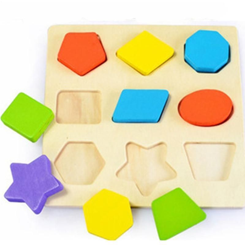 Baby Toys 3D shape intelligence jigsaw puzzle Wooden Toys