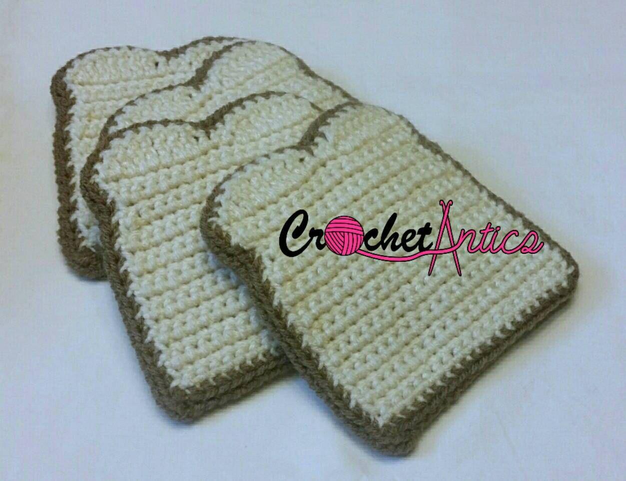 Crochet bread, crochet play food, crochet bread slices, crochet white bread, pretend food, free shipping - pinned by pin4etsy.com
