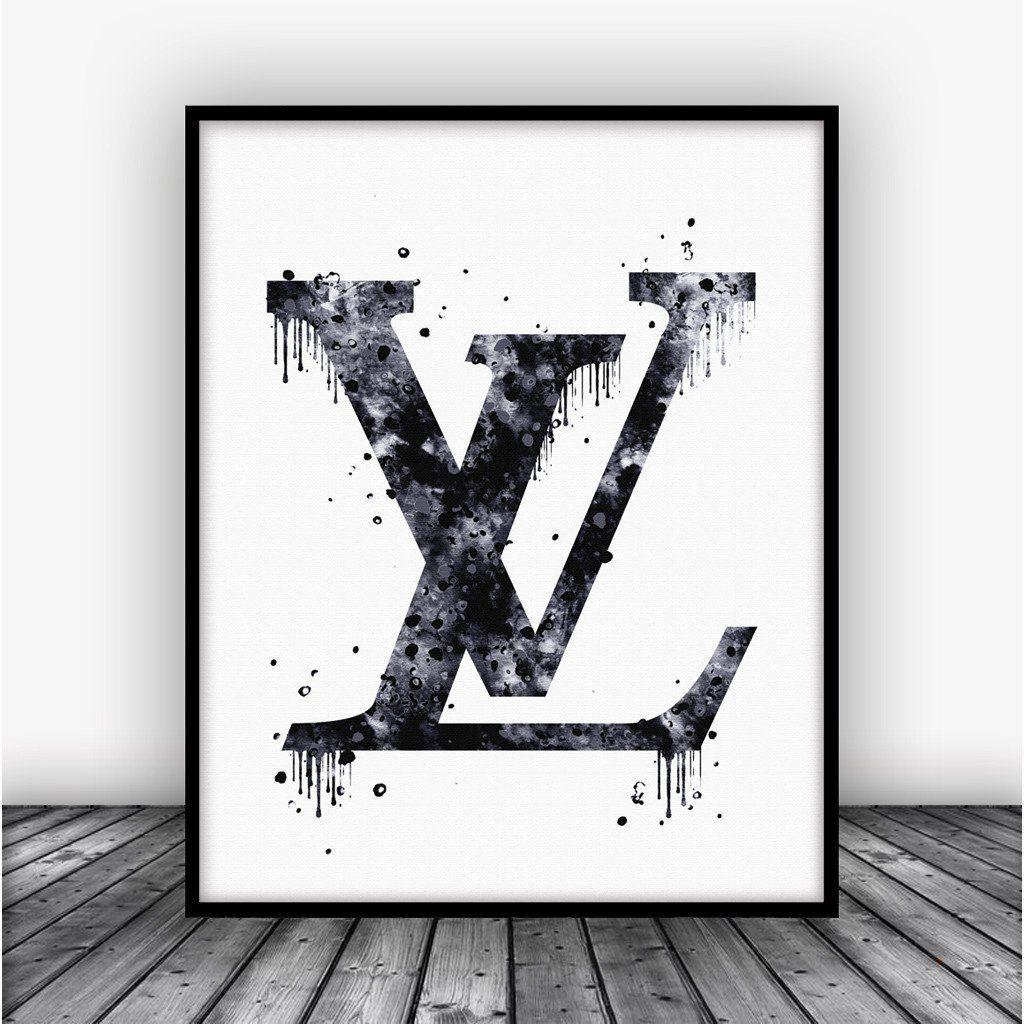 louis vuitton logo dripping art print