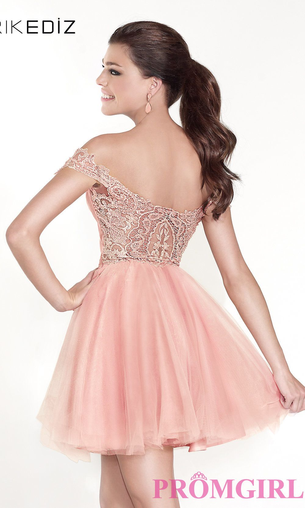 Pink dress hoco  Style TD Front Image  Party Dresses skater dresses