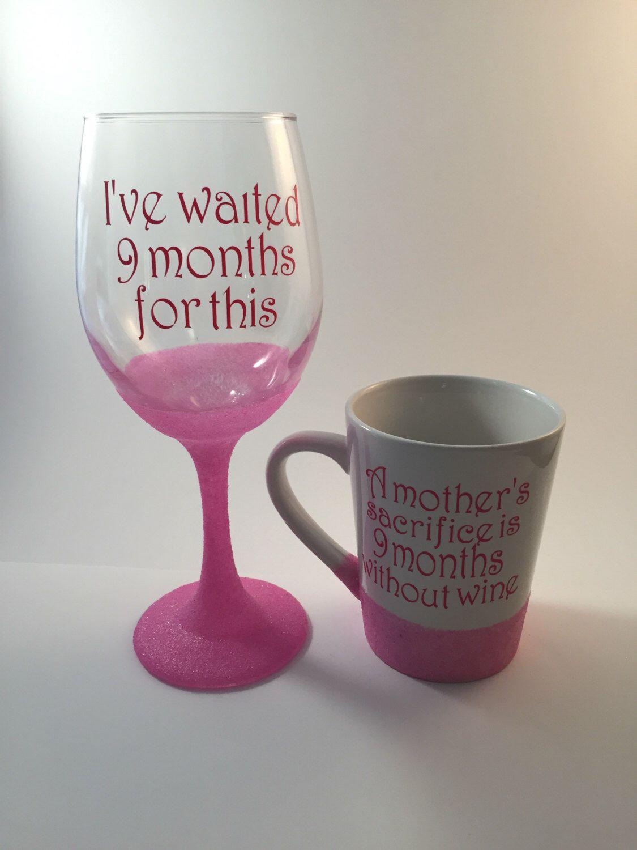 Pink Wine Glass With Saying Coffee Mug With Saying Wine Glass For Mom Funny Wine Glass Funny Coffee Mug Waite Funny Wine Glass Wine Glass Diy Wine Glasses