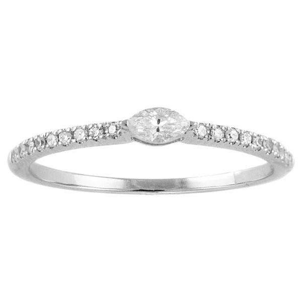 Beverly Hills Charm 14k White Gold 15ct Marquise Diamond Stackable
