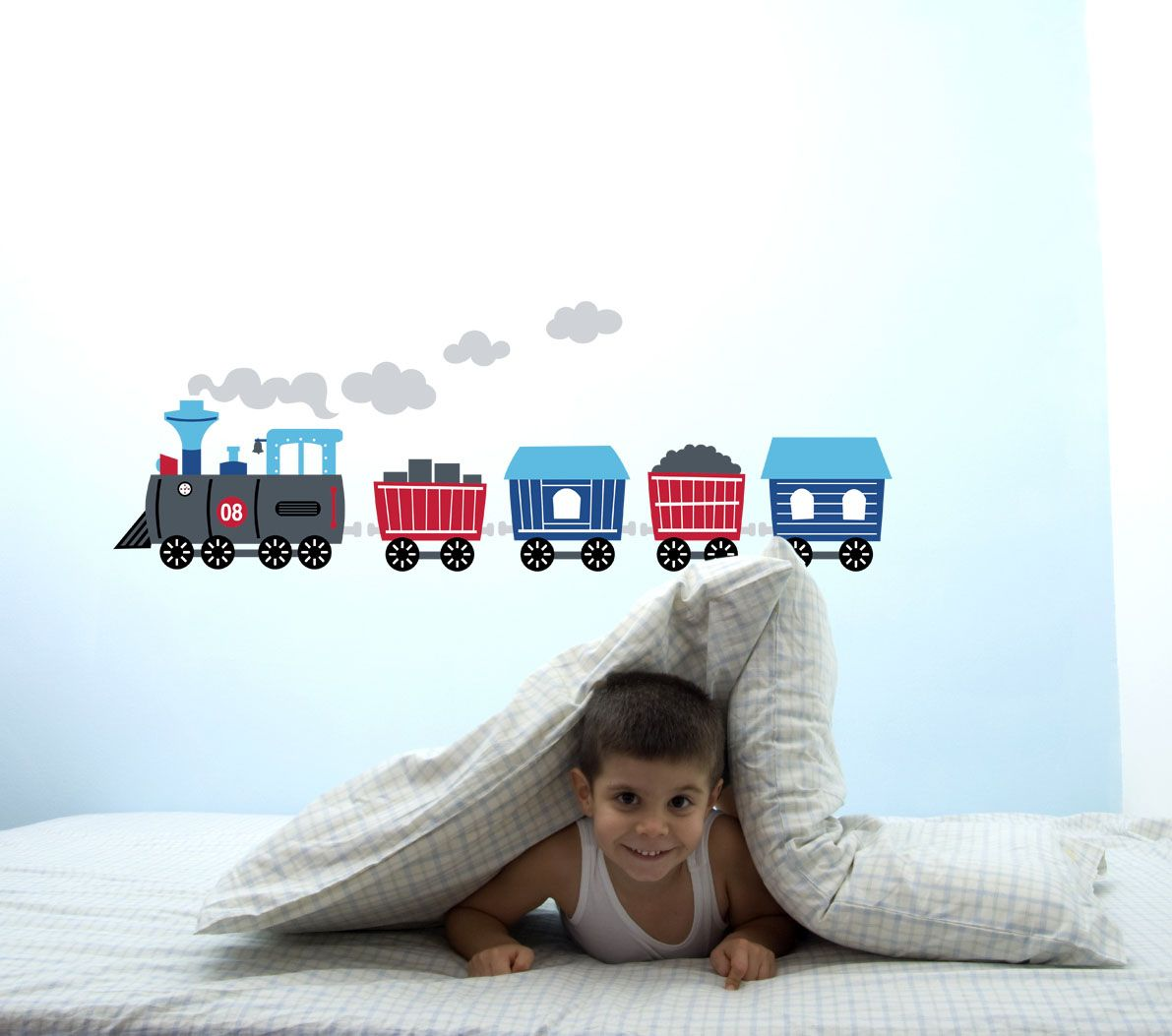 Choo choo!   #childrens bedrooms #kids bedrooms #wall decor #wall stickers for nursery