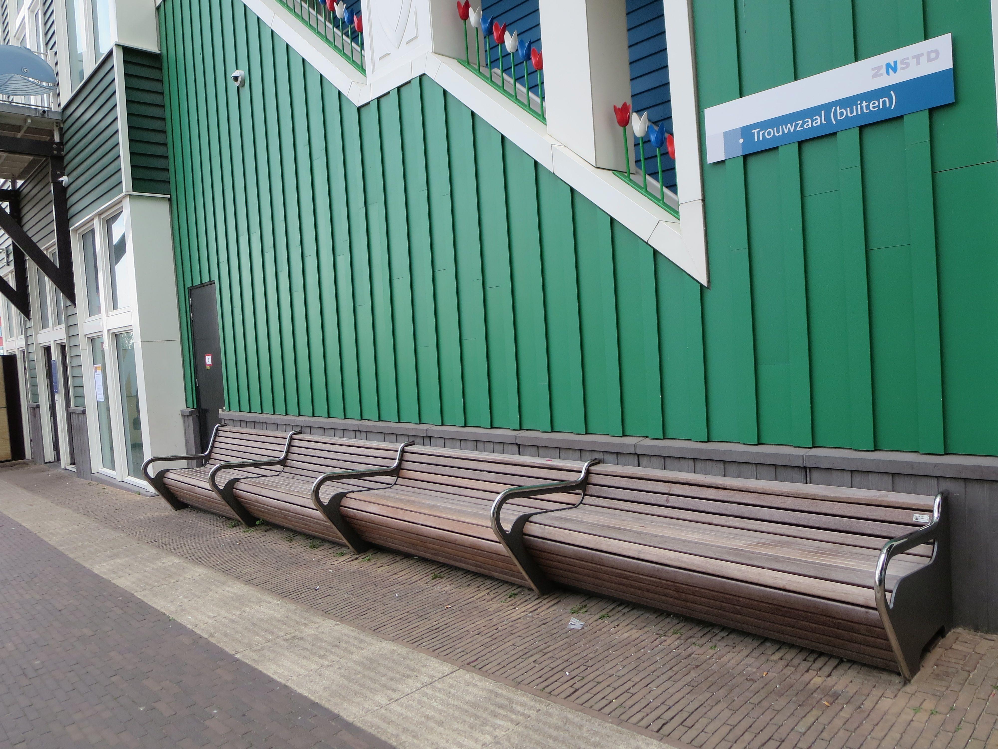wooden bench Zaandam