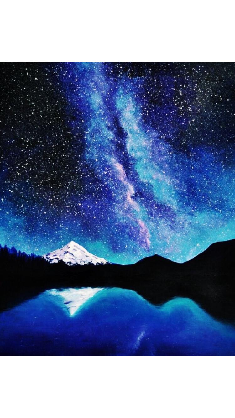 Pin By Ally Schrank On Art Art Canvas Art Galaxy Painting