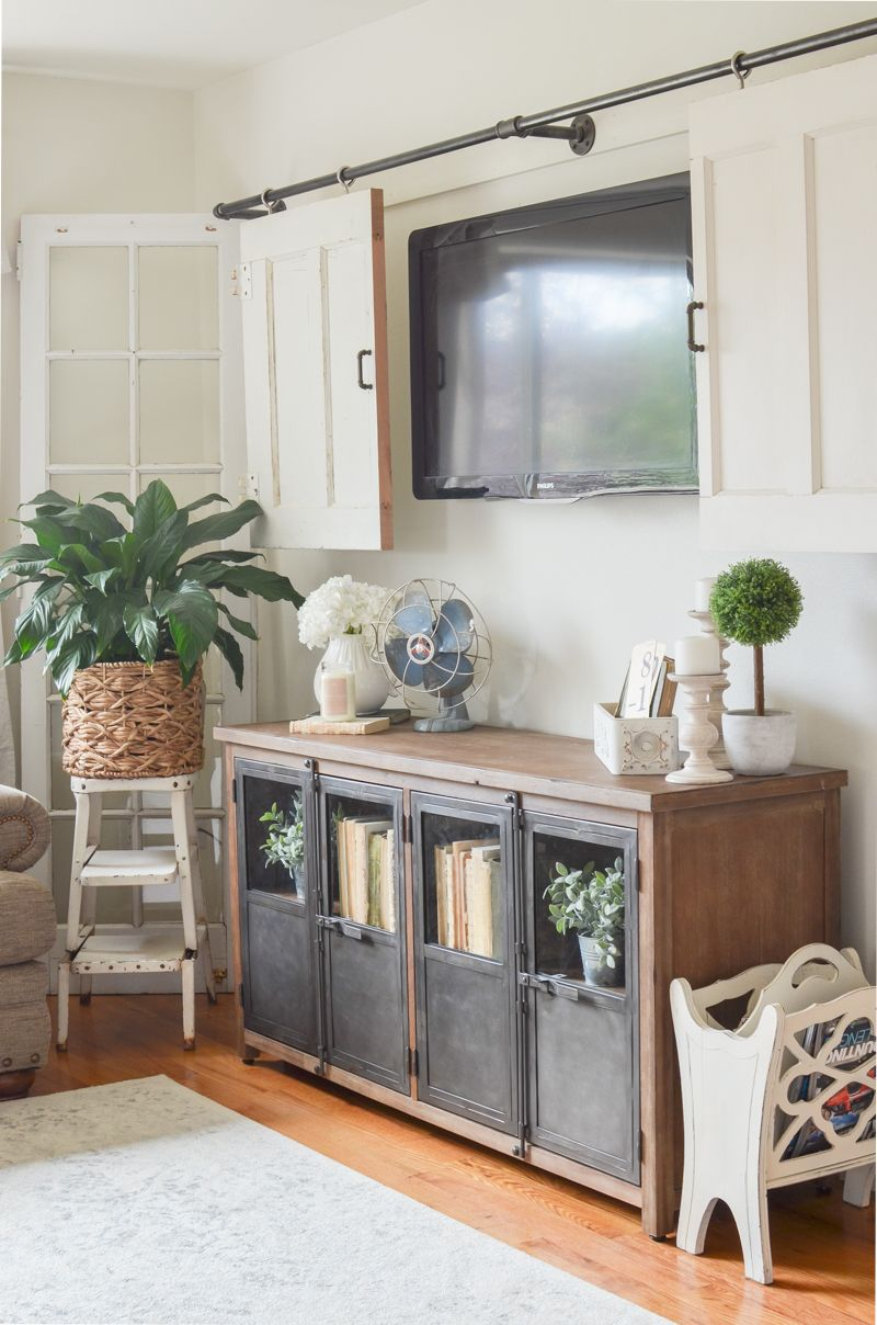 New Cabinet In The Living Room With Images Farmhouse Style
