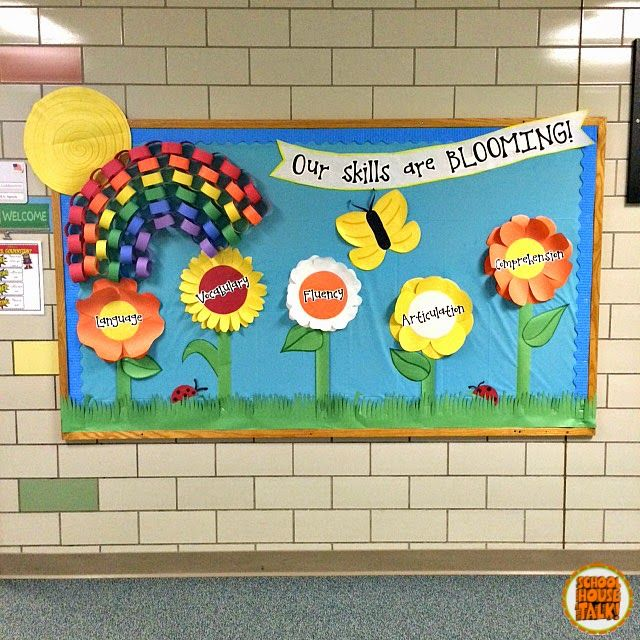 A Bright And Eye Catching Bulletin Board Idea For The Spring