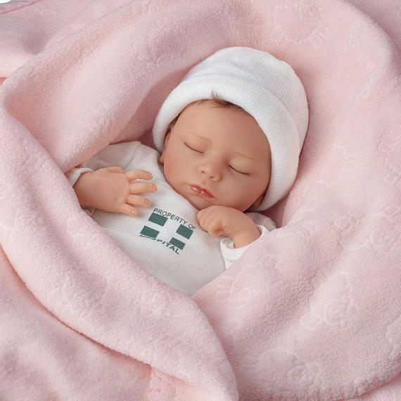 Ashton Drake Ashley Atmung Lebensechte Baby Girl Puppe Von Newborn Baby Dolls Ashton Drake Baby Dolls