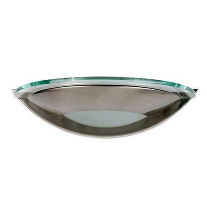 Discus wall light satin nickel effect 28cm at homebase be discus wall light satin nickel effect 28cm at homebase be inspired and make your house a home buy now mozeypictures Choice Image