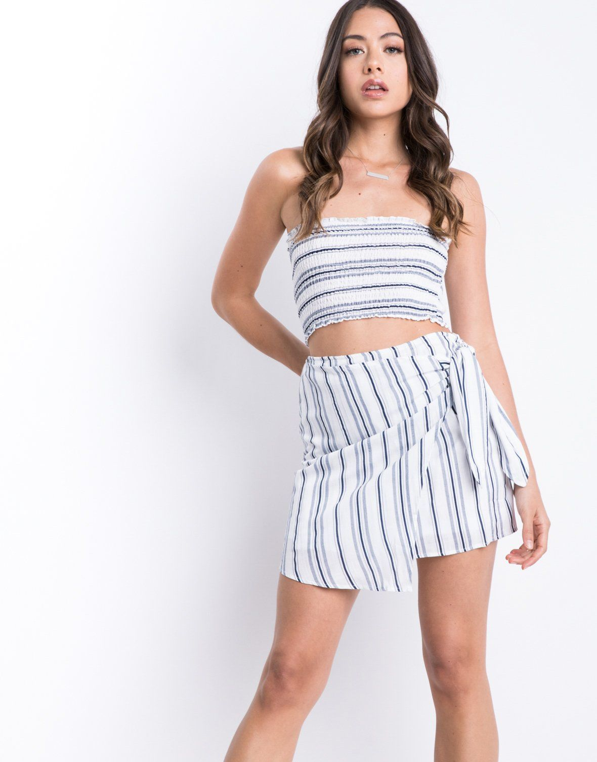 Seaside Wrap Skirt 2 Piece Set In 2021 Matching Sets Outfit Wrap Skirt Two Piece Outfits Skirt