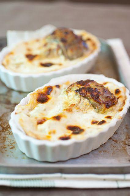 Tarts with mad dough goat cheese and artichoke/Alla scoperta della pasta matta