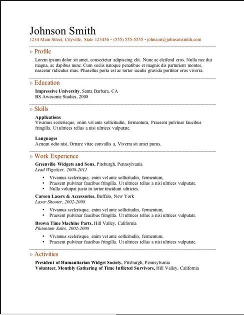 free resume examples online - Online Free Resume Template