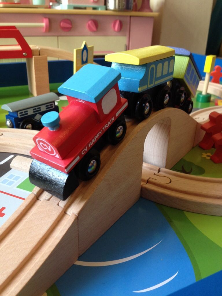 Chad Valley Wooden Train and Table | Wood toys | Pinterest | Wooden ...