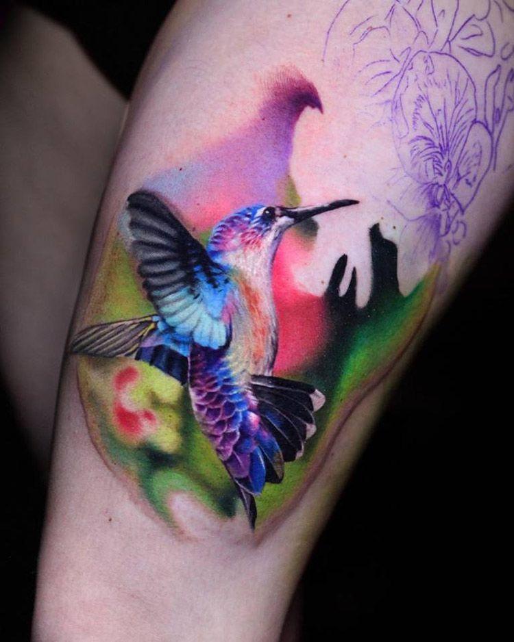 Colorful Hummingbird Best tattoo ideas & designs
