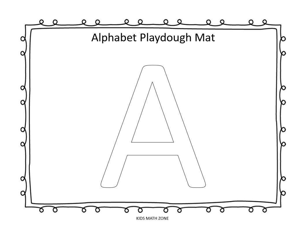 Alphabet 26 Printable Uppercase Playdough Mats Worksheets