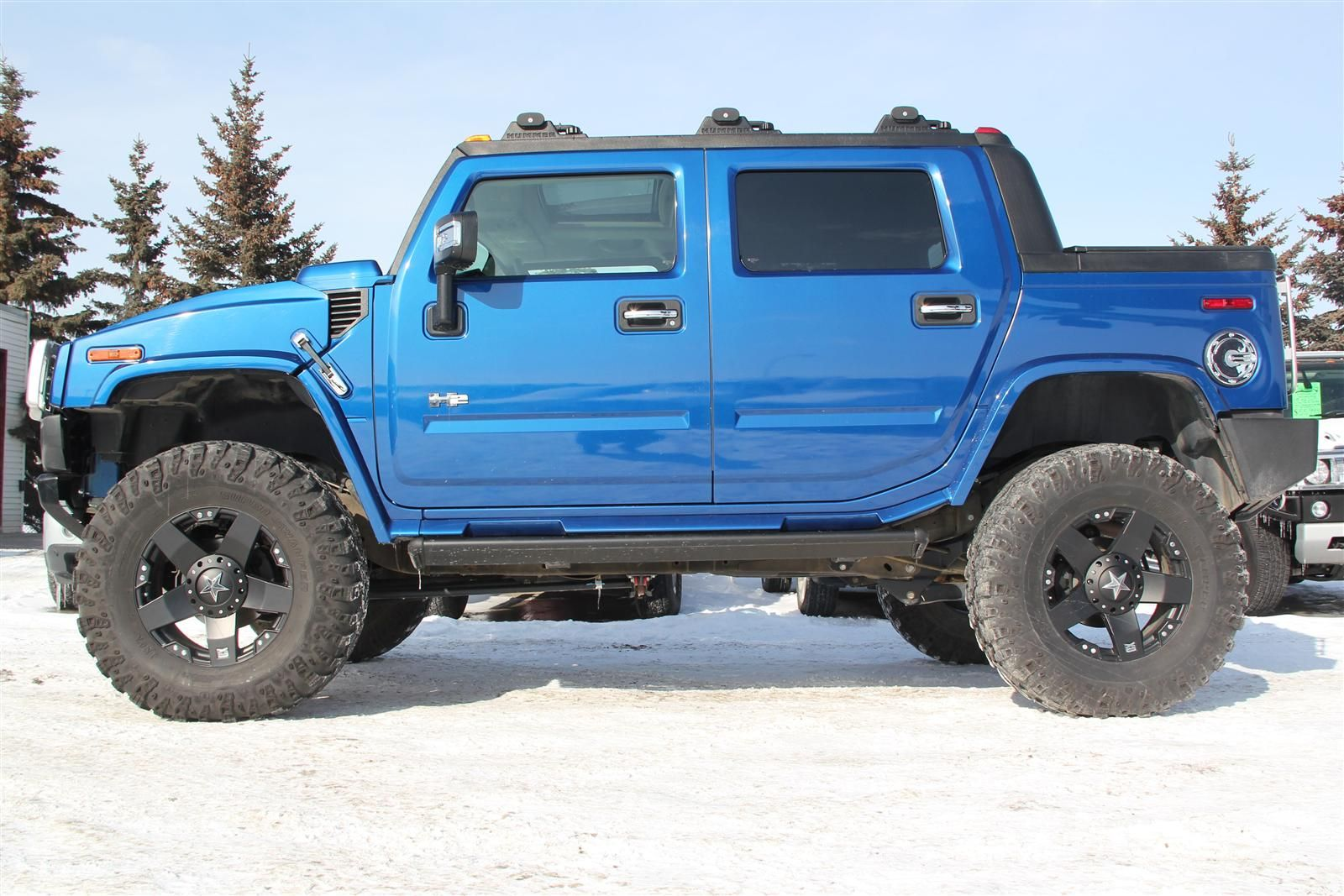 2006 h2 hummer pacific blue limited supercharged with a 6in