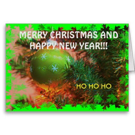Green Christmas Bulb Christmas CARD