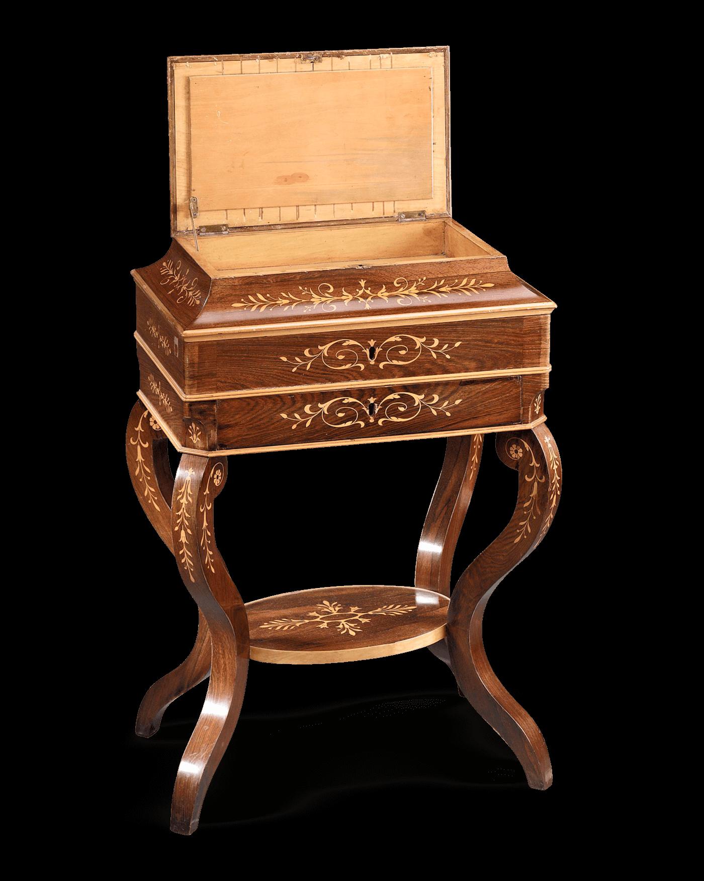 Antique Furniture, Charles X Furniture, Rosewood Furniture, Sewing Antiques  at rauantiques.com - Antique Furniture, Charles X Furniture, Rosewood Furniture, Sewing