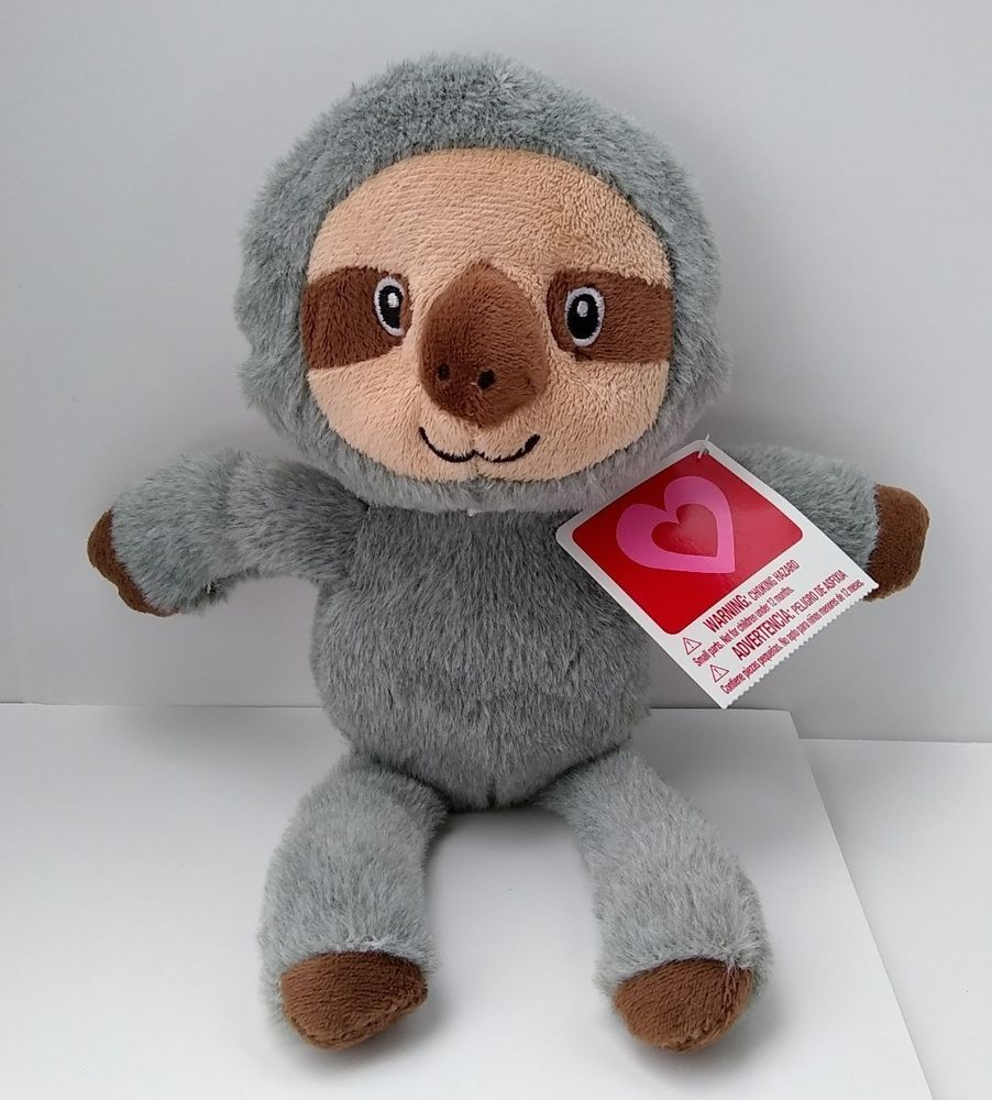 "New Baby Sloth Stuffed Animal Plush 11"" Sewn Eyes"