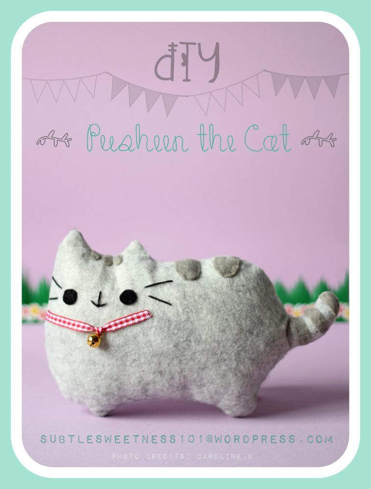 Pusheen Diy : pusheen, CATS:, Do-it-yourself, Pusheen, Plush, Giveaway, Template!, Plush,, Toys,, Theme