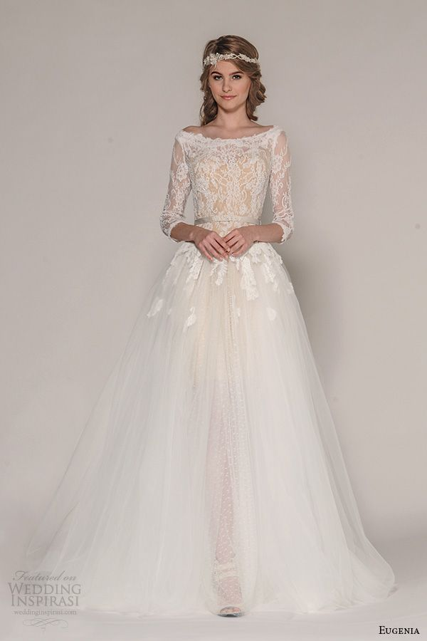 Eugenia couture fall 2016 wedding dresses 2016 wedding for Fall lace wedding dresses