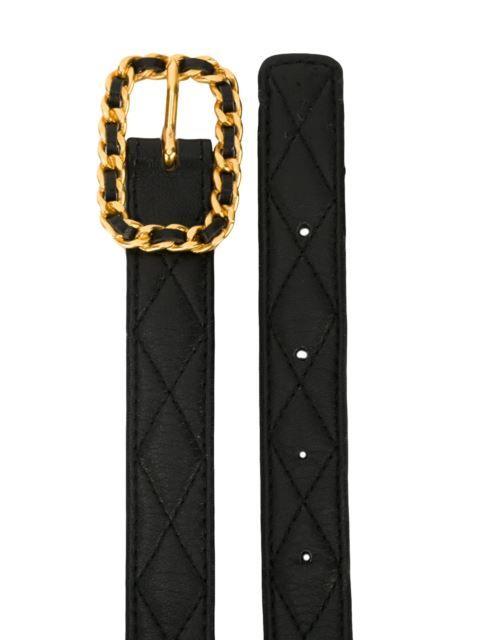 Shop Chanel Vintage quilted belt.