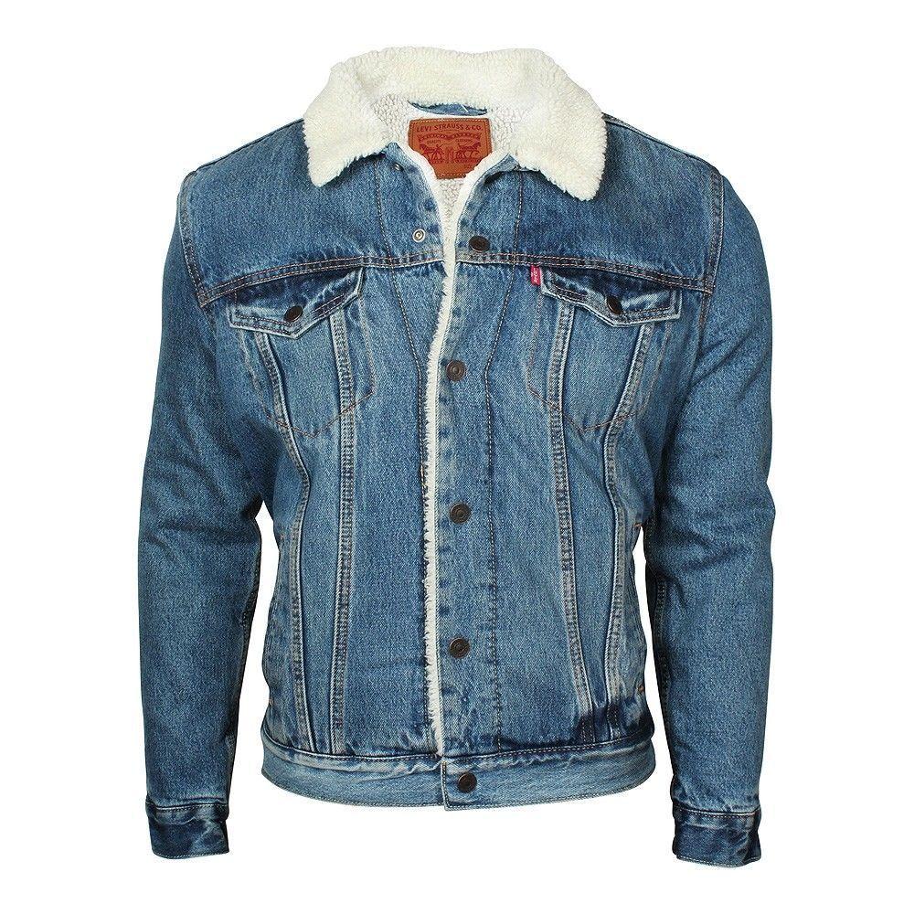 Jeansjacke Herren Jeans Type 3 Sherpa Levi's Jacke Warm qVpSUzM