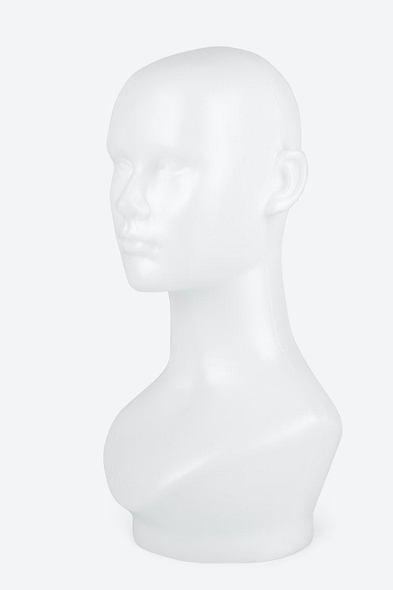 Download Premium Illustration Of White Mannequin Head In Profile Mockup Mannequin Heads Illustration Mockup
