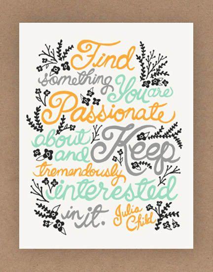Julia Child Quote Illustration Print by unraveleddesign.
