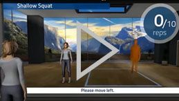 Physical therapy with Kinect app 'Vera'