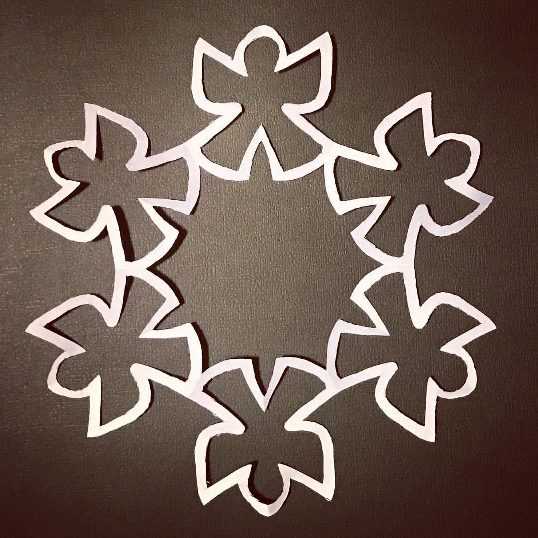Snow Angel Pdf Snowflake Template Paper Snowflake Patterns