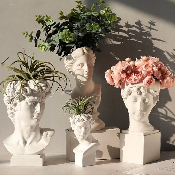 Head Pots For Plants Succulent Flower Pot Homemade Material Food Grade Silicone Inner Size Finished Product Size Sh0243 Vase Crafts Flower Pots Flower Vases