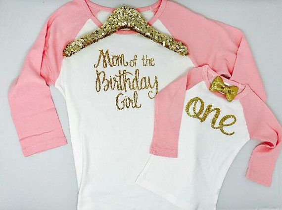 Mom Of The Birthday Girl Shirt