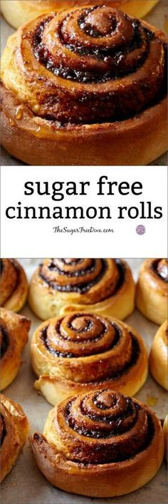How to make homemade Sugar Free Cinnamon Rolls #sugarfree
