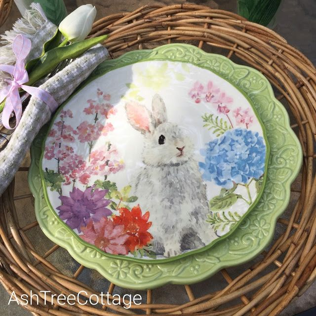 I found these bunny plates at Hobby Lobby a few months ago and could hardly wait & I found these bunny plates at Hobby Lobby a few months ago and ...