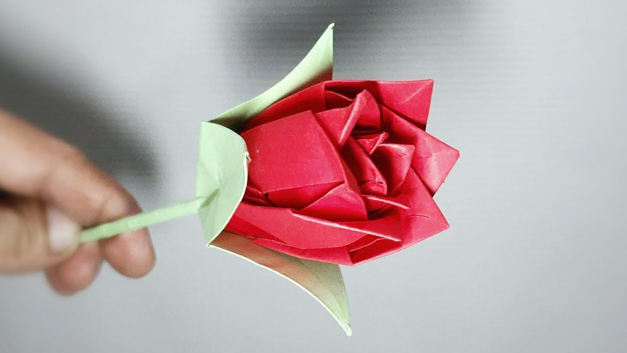 Origami Rose Instructions | Origami rose, Origami flowers, Origami ... | 720x1280