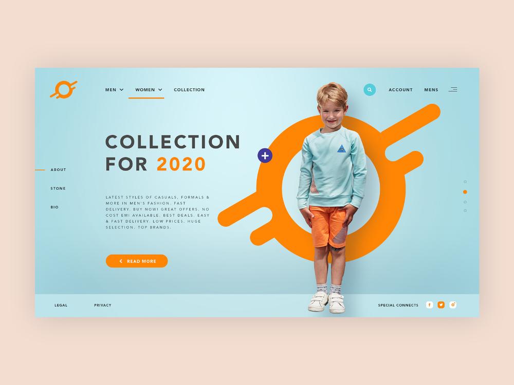 Fashion E Commerce Store Mockup Design In 2020 Mockup Design Graphic Design Ads Web Banner Design