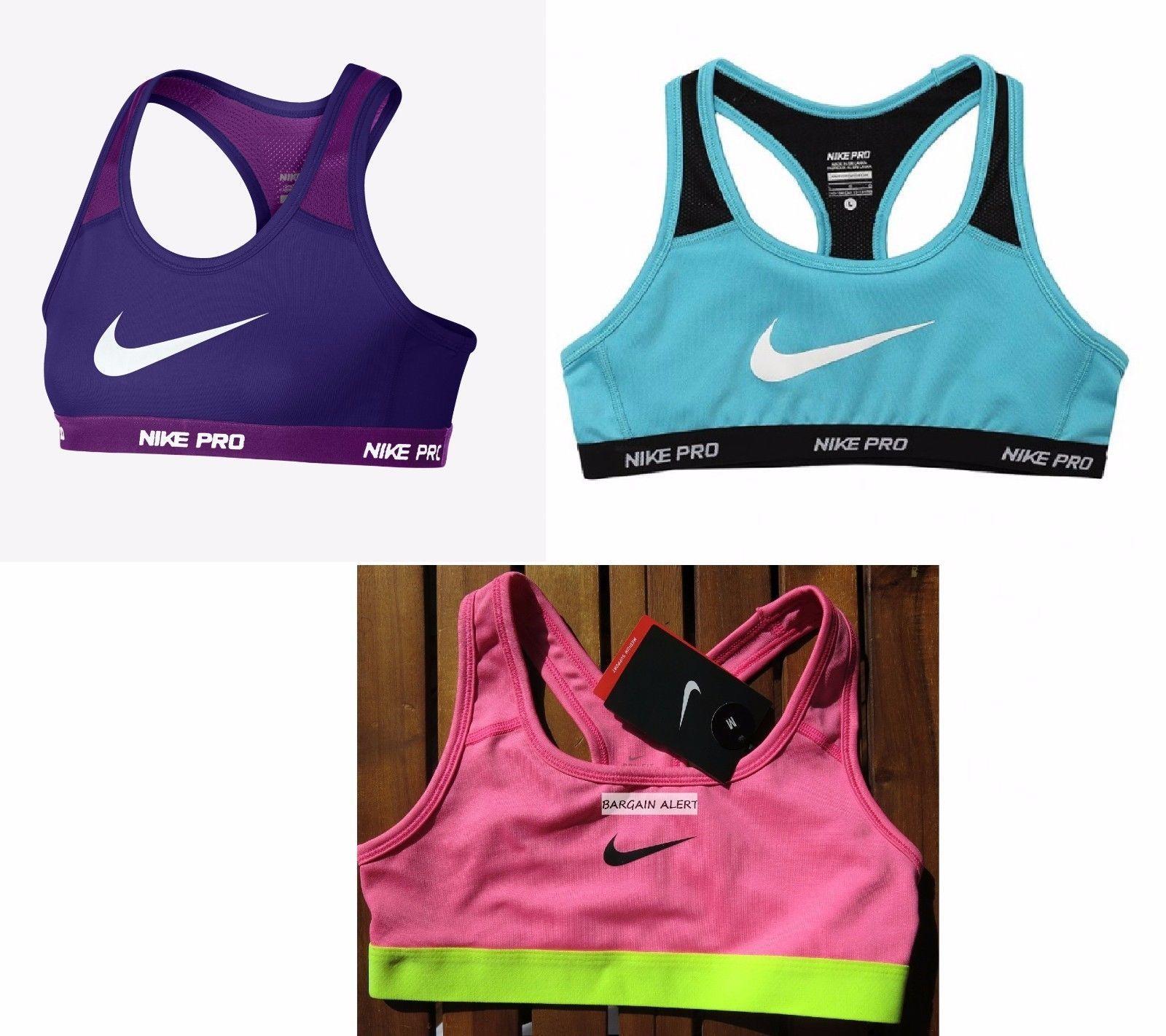 Nike Pro Girls Youth Sports Bra Medium Or 3 X Extra