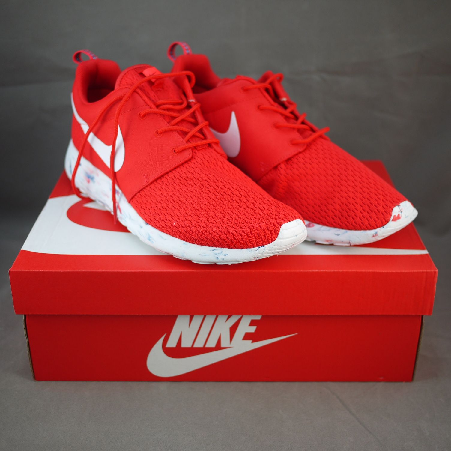 Nike Roshe Défi Marine Pourpre Rouge / Laser / Minuit / Robes Blanches