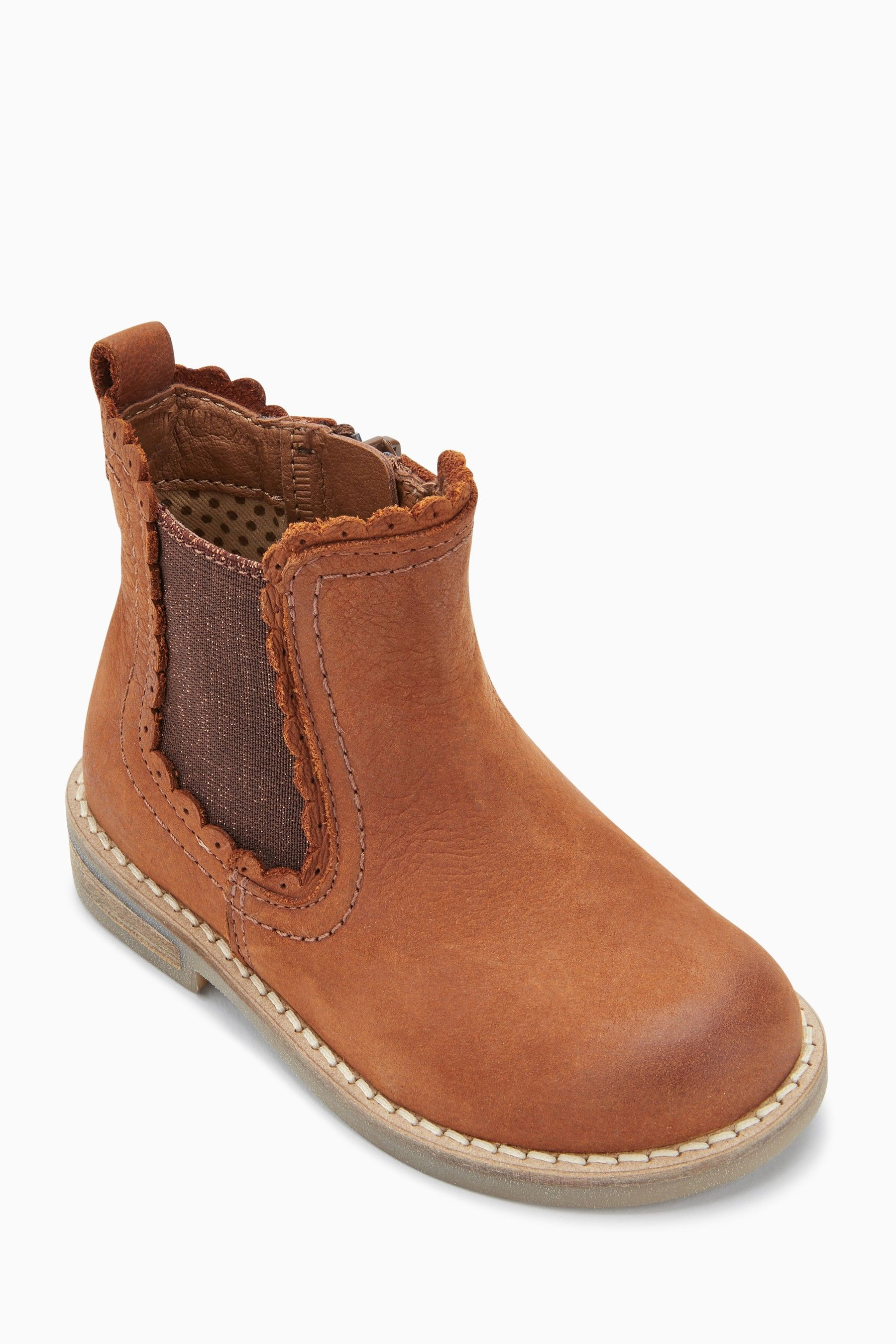 Girls Next Tan Chelsea Boots (Younger) Brown Toddler